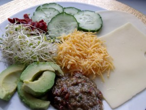 Three Cheese Veggie Sandwich ingredients