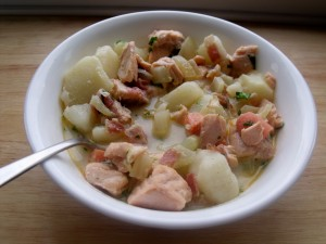 smoky salmon chowder
