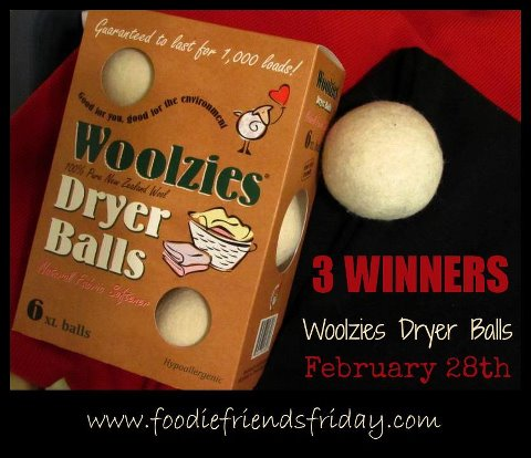 Foodie Friends Friday LInky Party #34 with Woolzies Dryer Balls