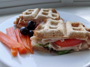 Freshly Pressed Waffle Sandwiches for #WeekdaySupper