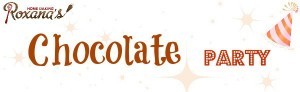chocolate party logo banner