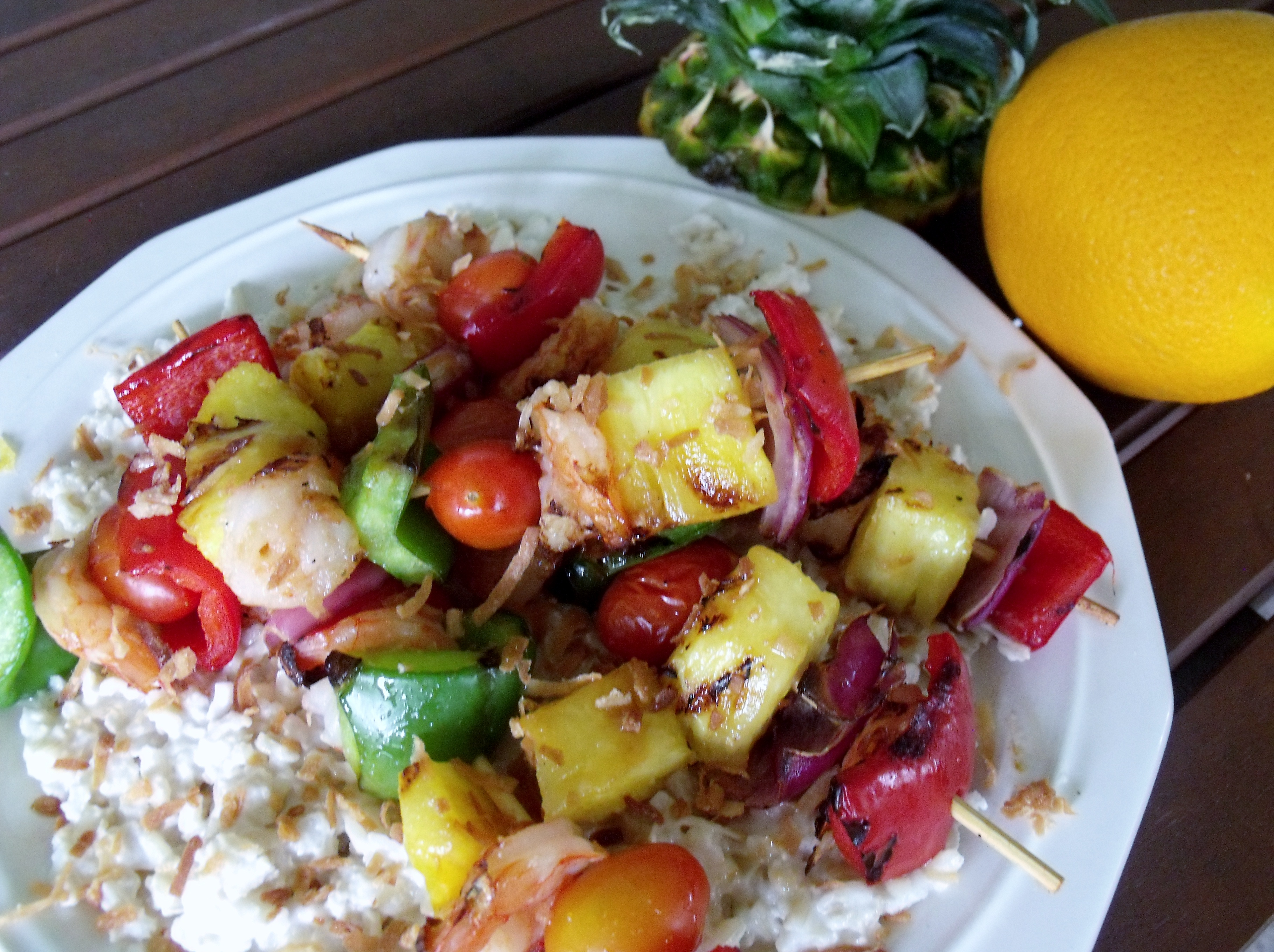 Tropical Shrimp Kabobs Guest Post at The Not So Cheesy Kitchen - Cindy ...