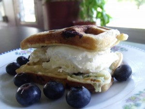 lemon ice cream blueberry waffle1
