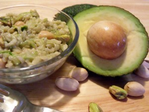 avocado brown rice salad