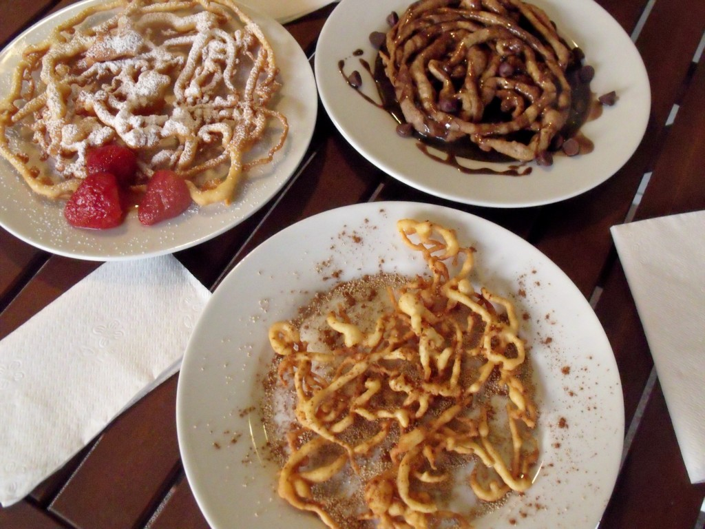 funnel cake 3 ways