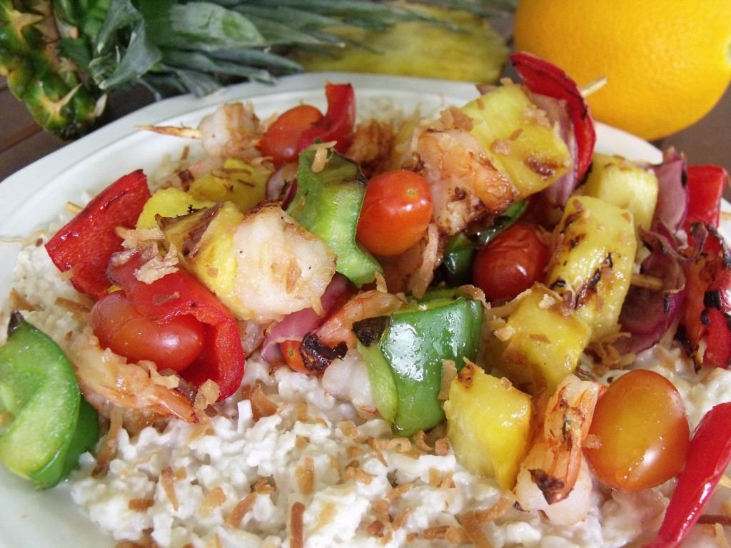 tropical shrimp kabob