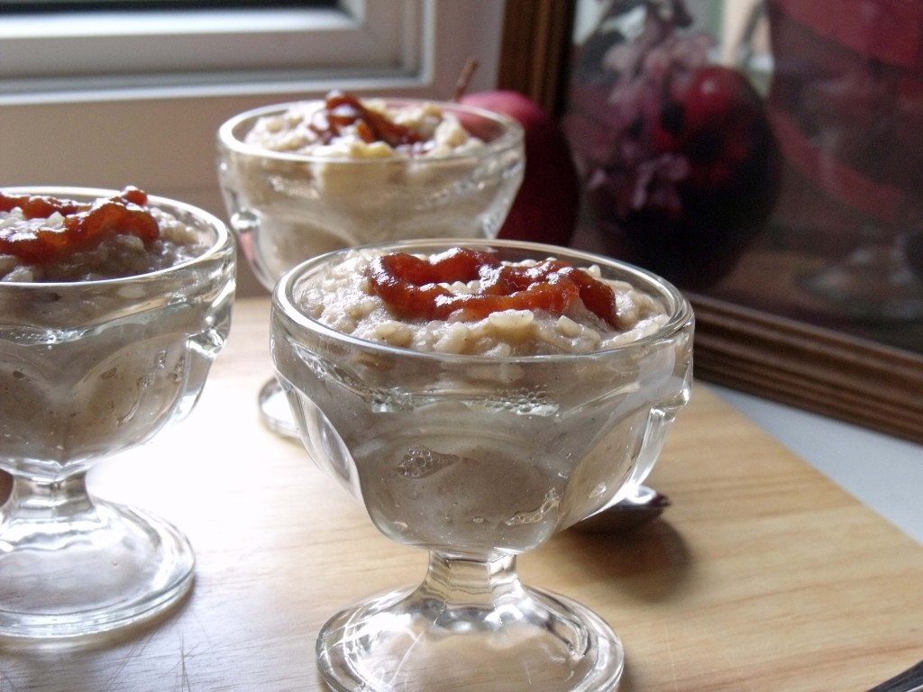 apples and cinnamon rice pudding