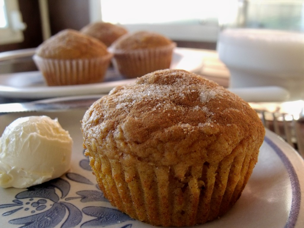 cinnamony sweet potato muffins