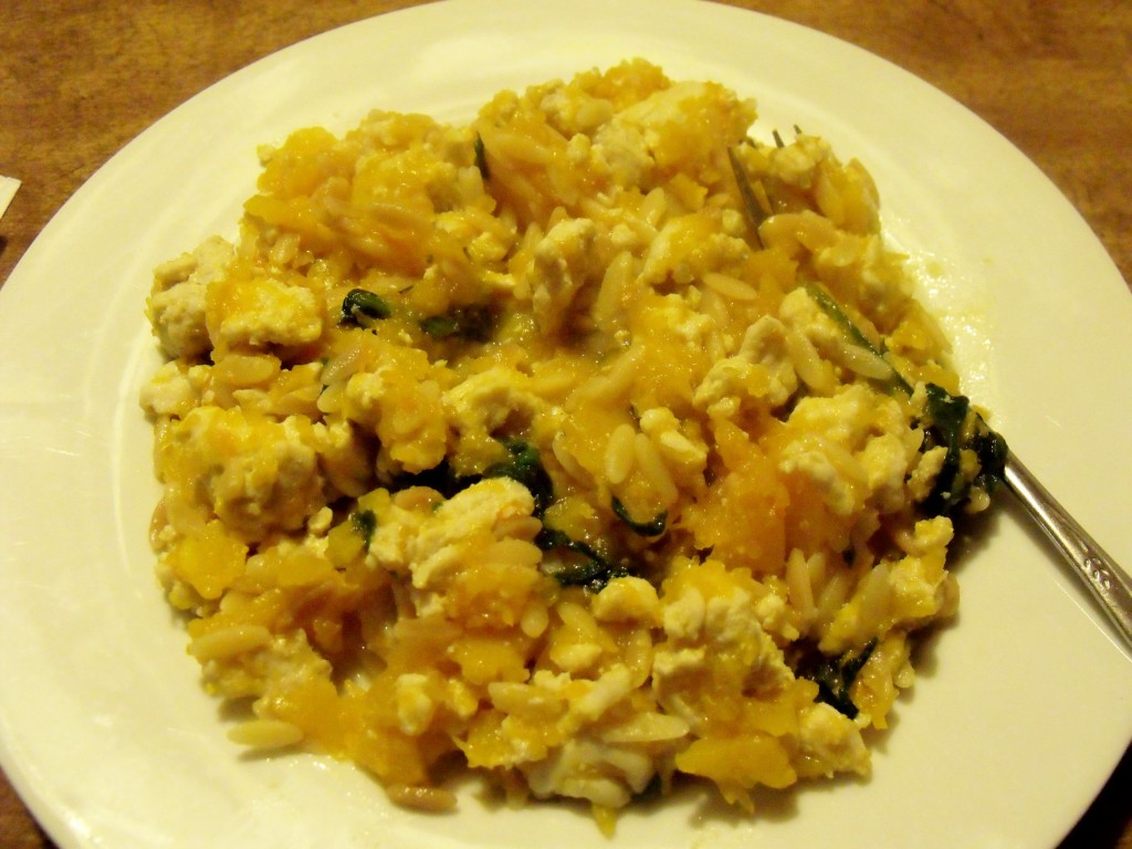 Turkey Butternut Orzo Casserole