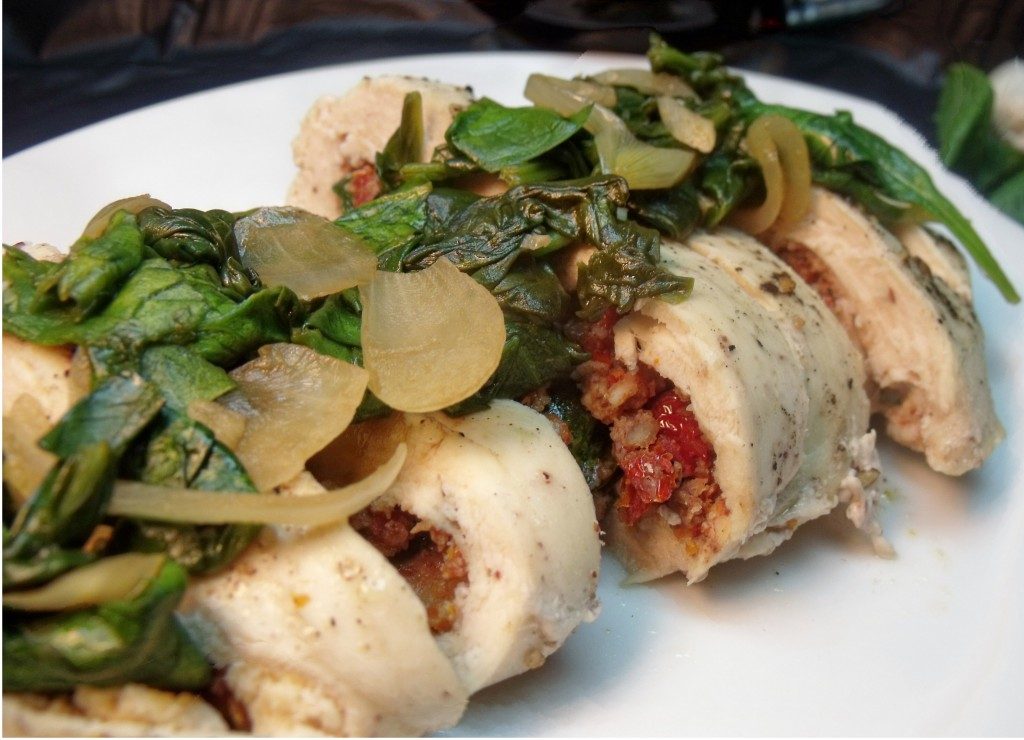 Chicken Spinach Roulade - Cindy's Recipes and Writings