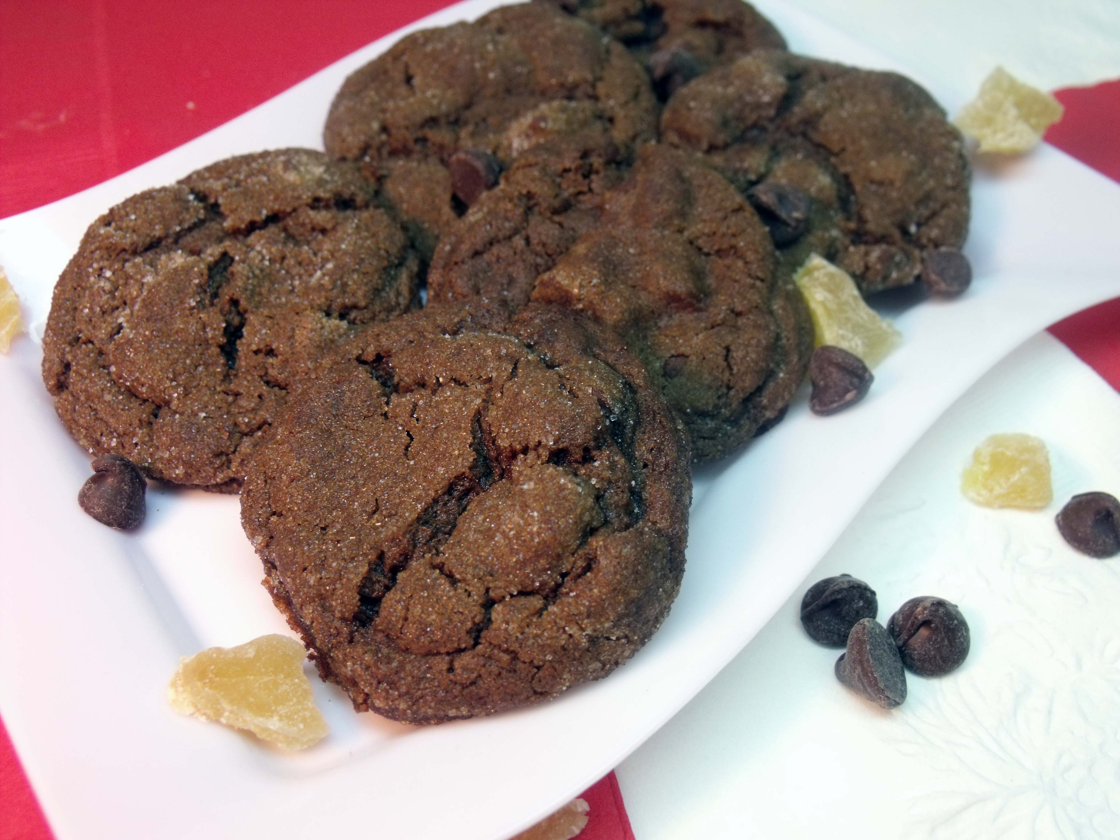 Chocolate Gingerbread Cookies Recipe — Dishmaps