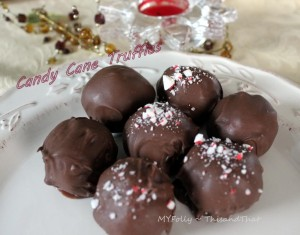 candy cane truffles