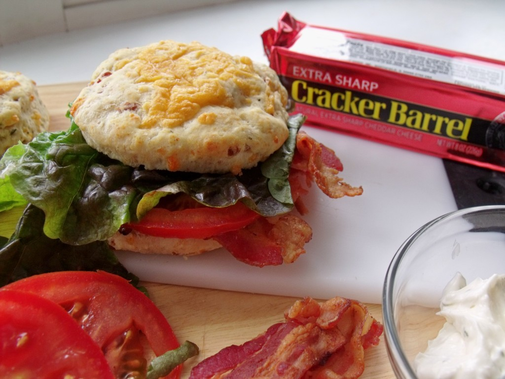 Cheddar Bacon Biscuit BLT #KraftyCooking -Cindy's Recipes and Writings