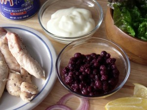 Wild Blueberry Chicken Salad ingredients
