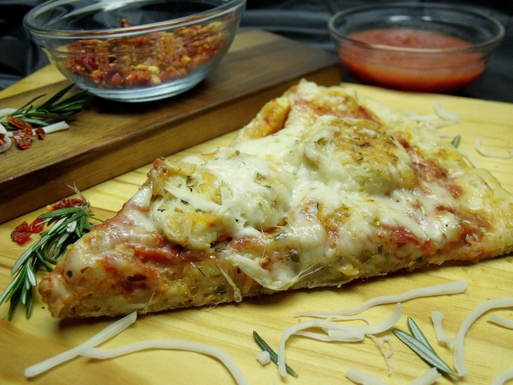 chicken meatball parmesan pizza slice