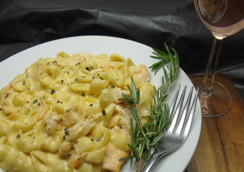 salmon mac and cheese