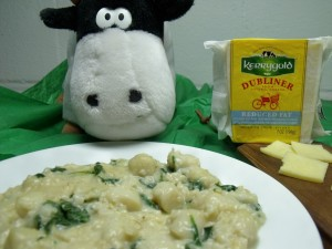 cheesy scallops spinach brown rice approved