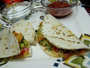 mini veggie quesadillas close up