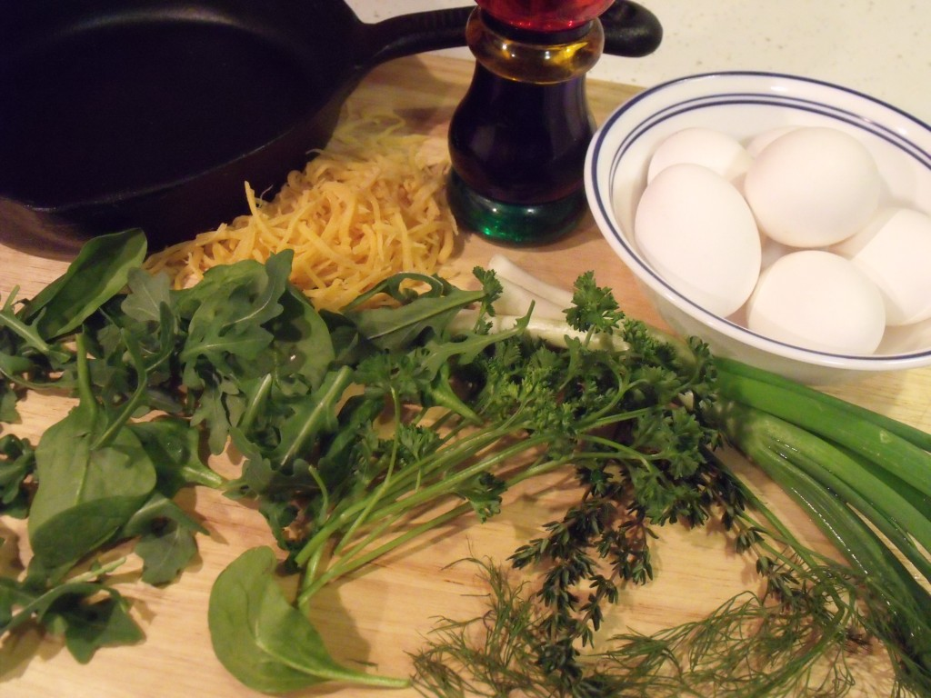 herb frittata ingredients