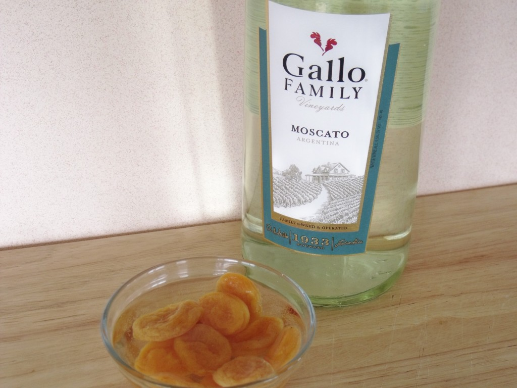 apricots soaked in moscato