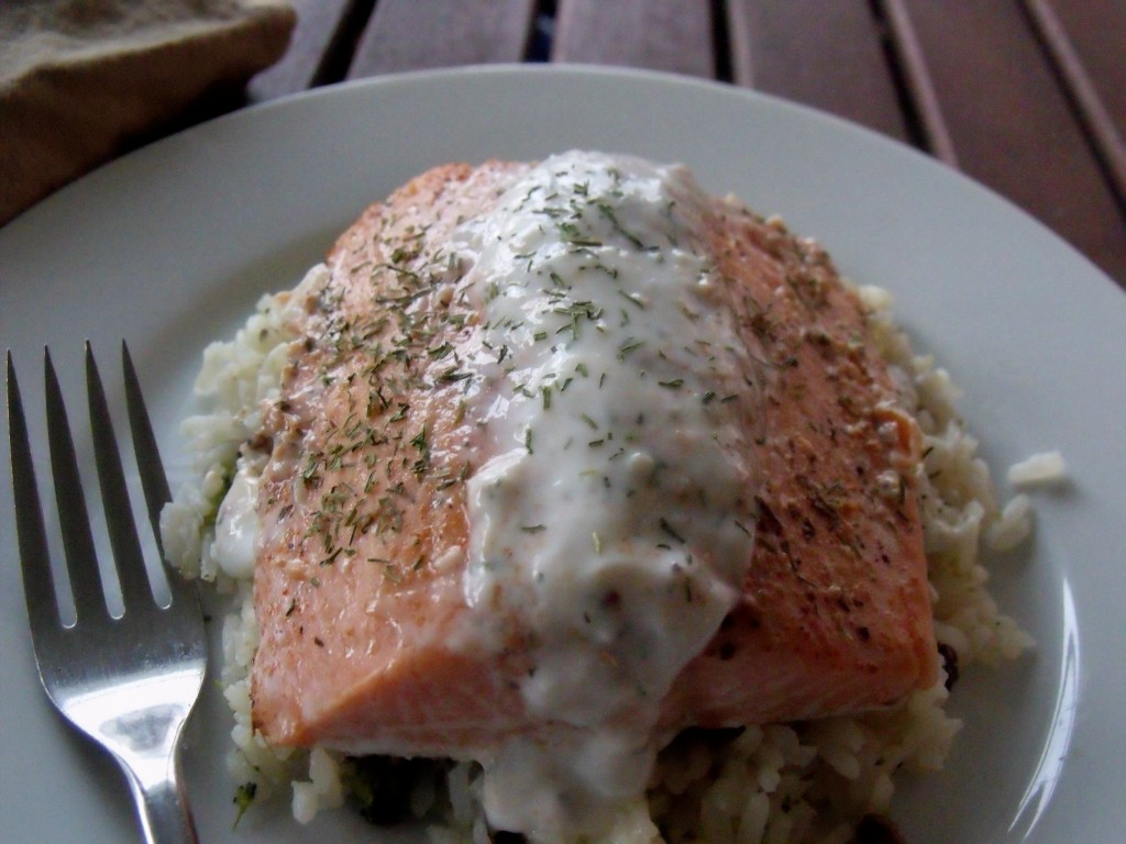 salmon with tiger dill