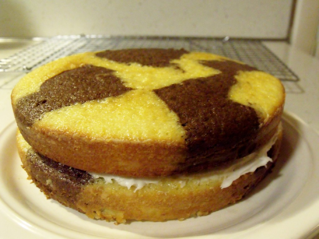 Black-Eyed Susan Cake unfrosted