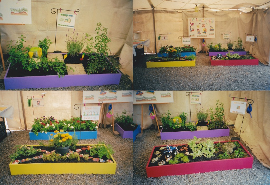 kids garden display
