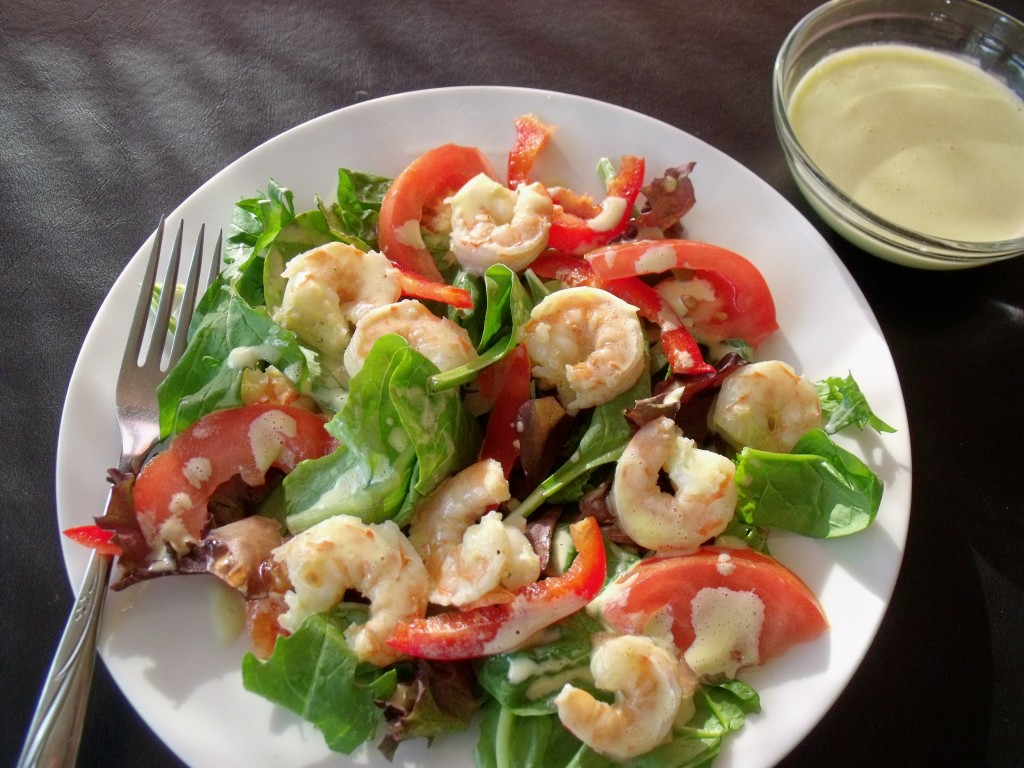 lemon basil shrimp salad plate 1