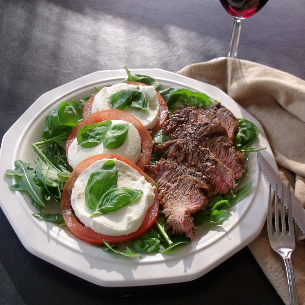 Steak Caprese Salad Plate