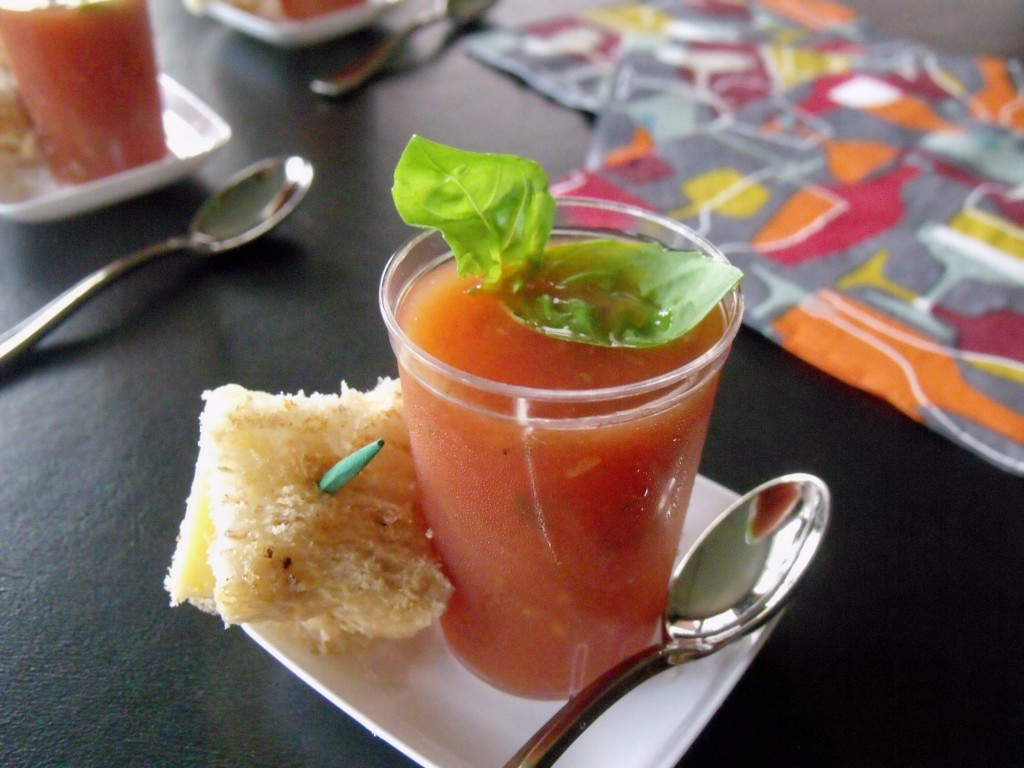 Tomato Basil Soup Shooter