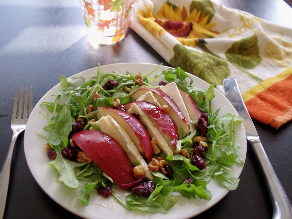 Brie and Pear Salad Plate