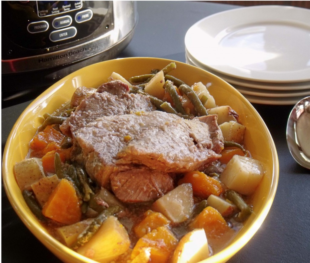 Slow-cooked Country Pork and Veggies