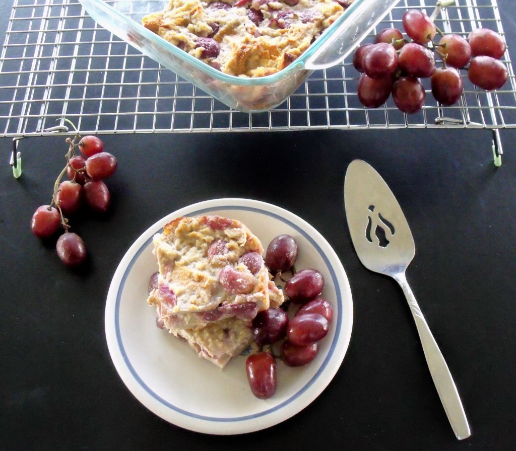 Grape Bread Pudding