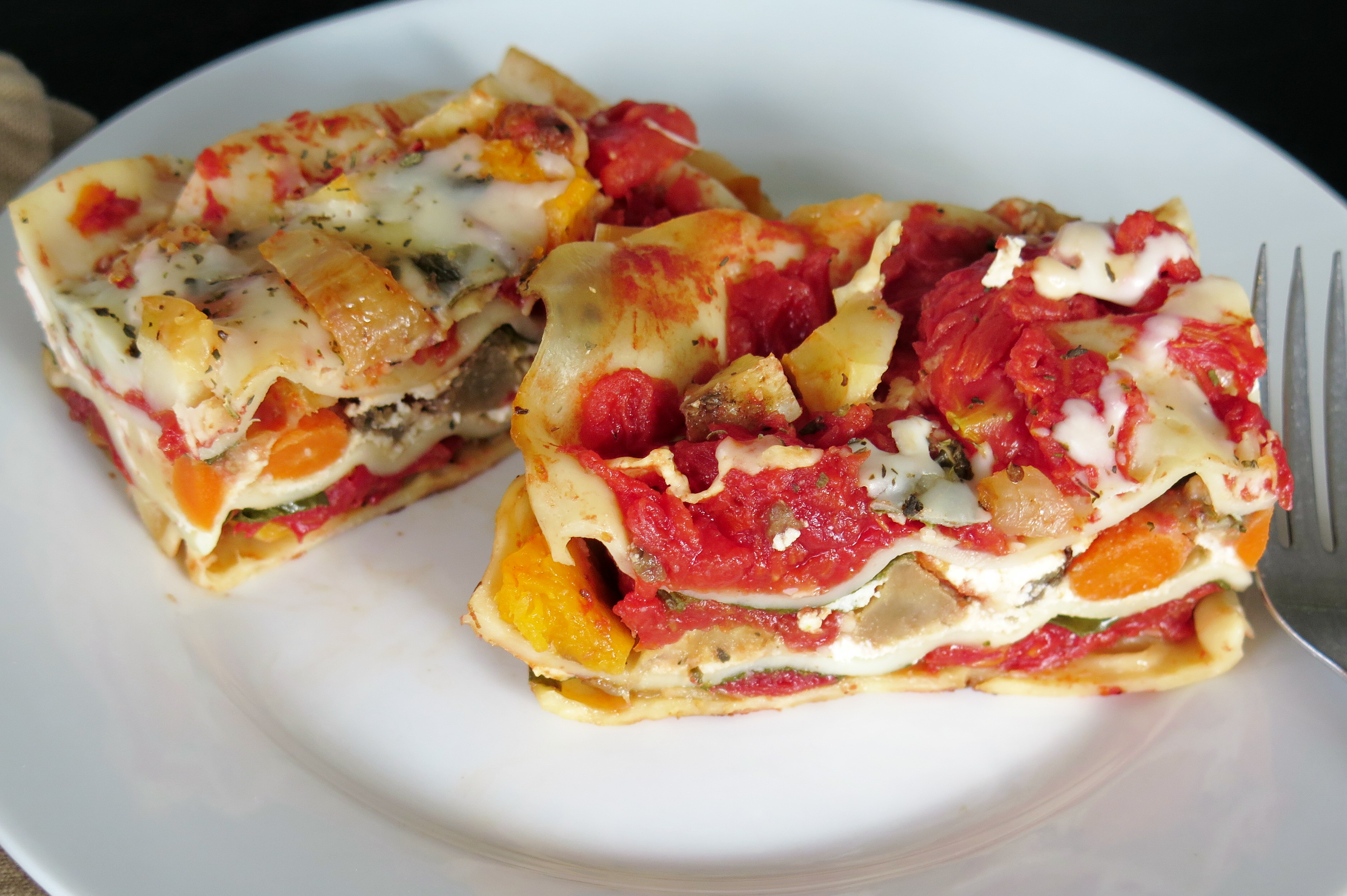 Roasted Vegetable Lasagna #RecipeRedux - Cindy's Recipes and ...