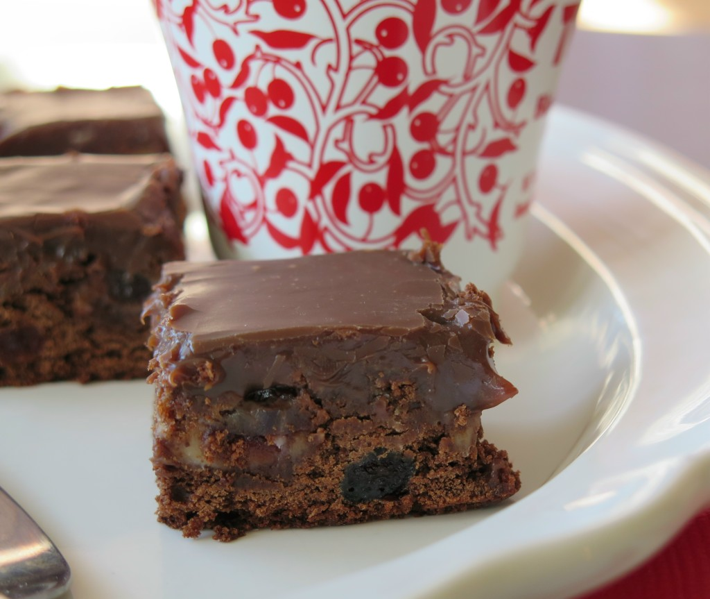 Chocolate Cherry Brownie plate