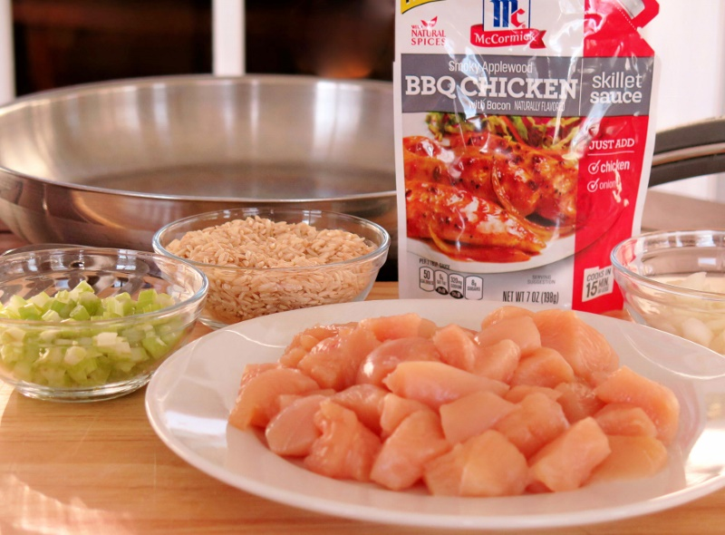 McCormick Skillet Chicken Rice ingredients