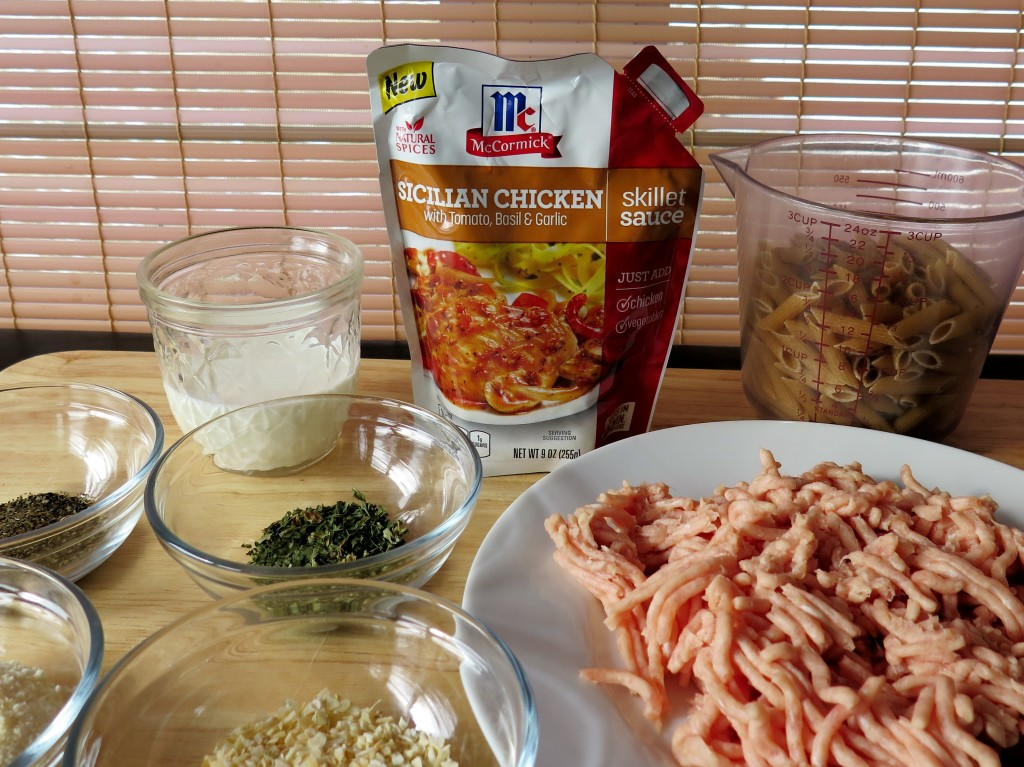 Chicken Meatballs and Pasta Rose Ingredients