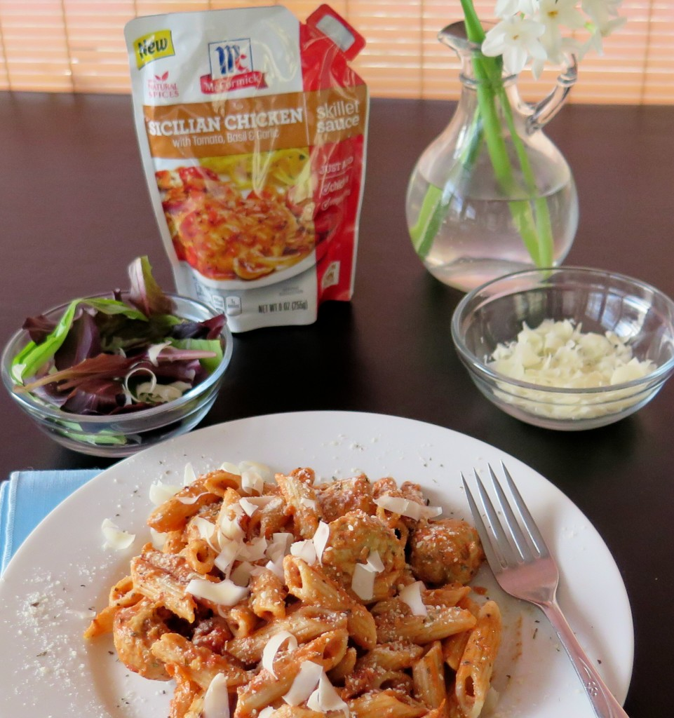 Chicken Meatballs and Pasta Rose with package