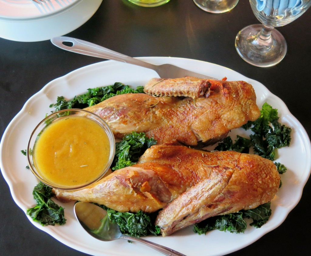 Duck with Moscato Peach Sauce Platter