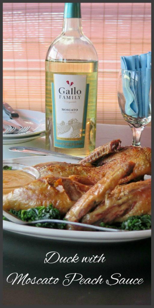 Duck with Moscato Peach Sauce collage