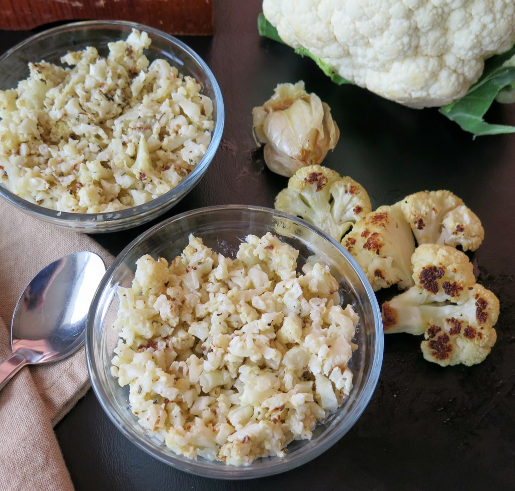 Roasted Garlic Cauliflower bowls
