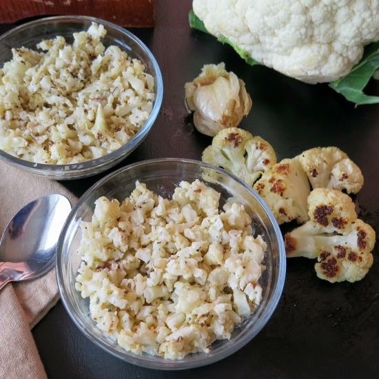 Roasted Garlic Cauliflower bowls (550x550)