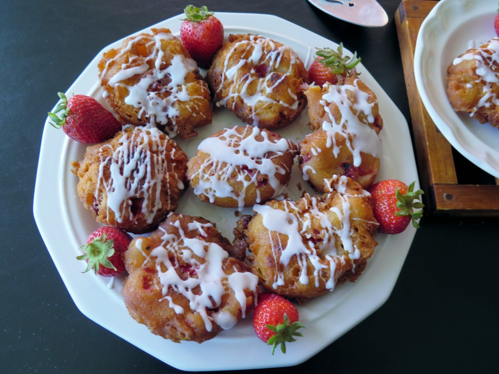 Strawberry Fritters plate