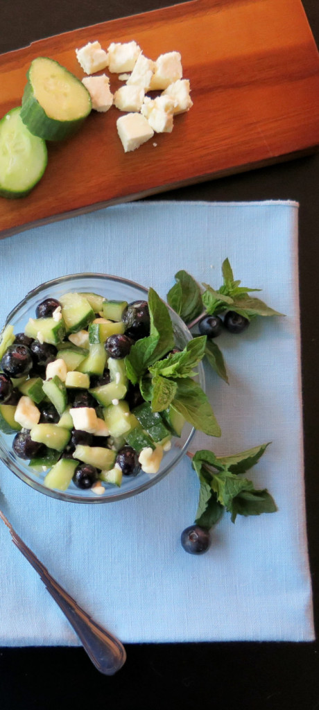 Blueberry Feta Cucumber Salad