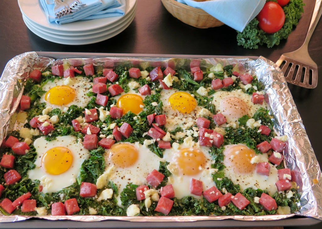 Greens & Eggs & Ham finished tray