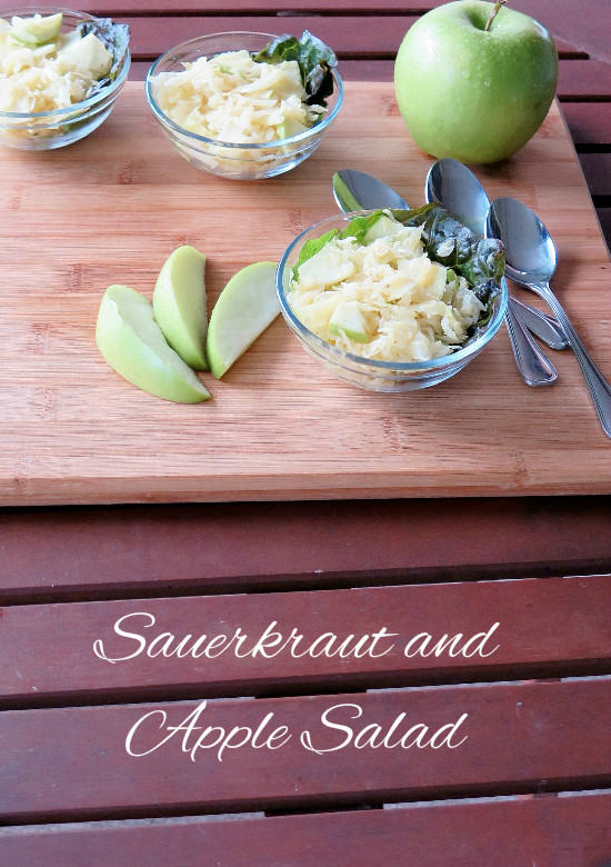 Sauerkraut Apple Salad collage