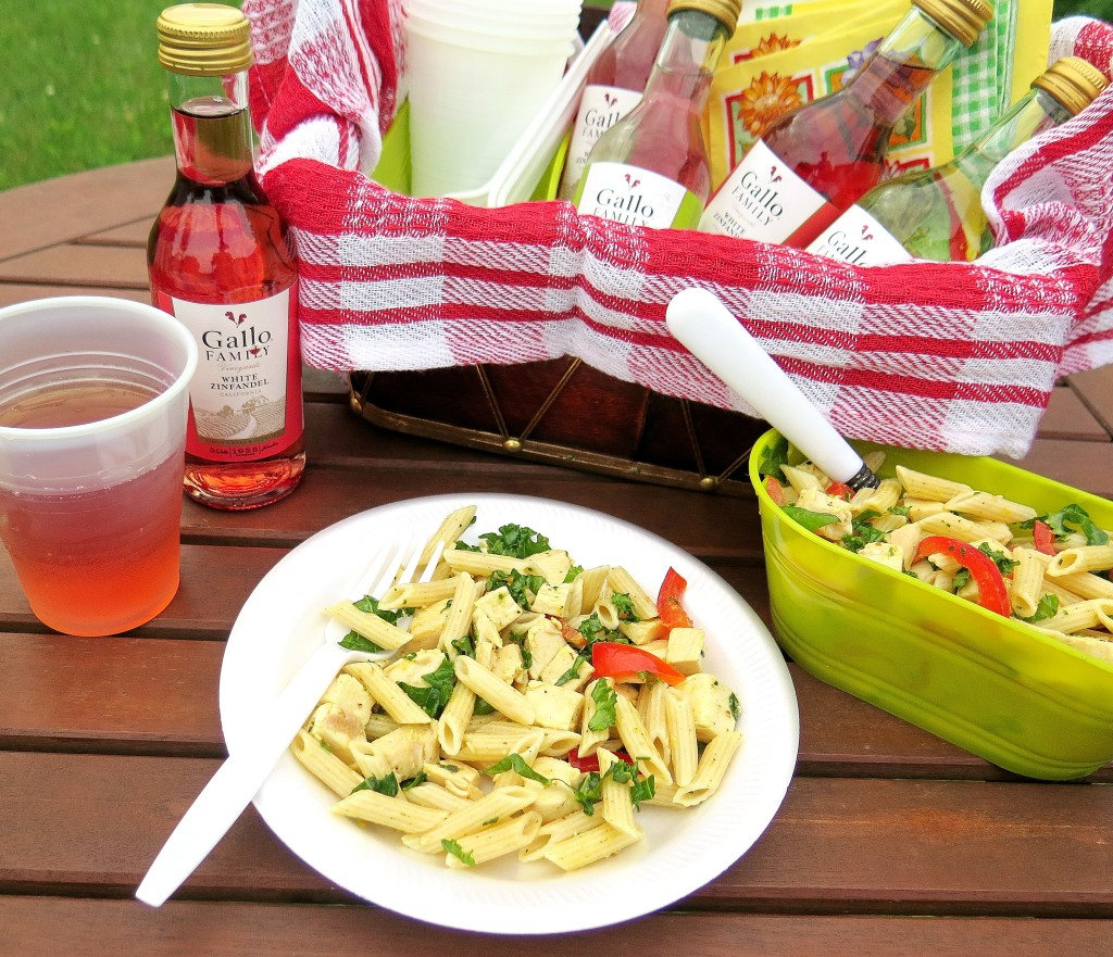 Lemon Chicken Penne Salad Gallo White Zinfandel