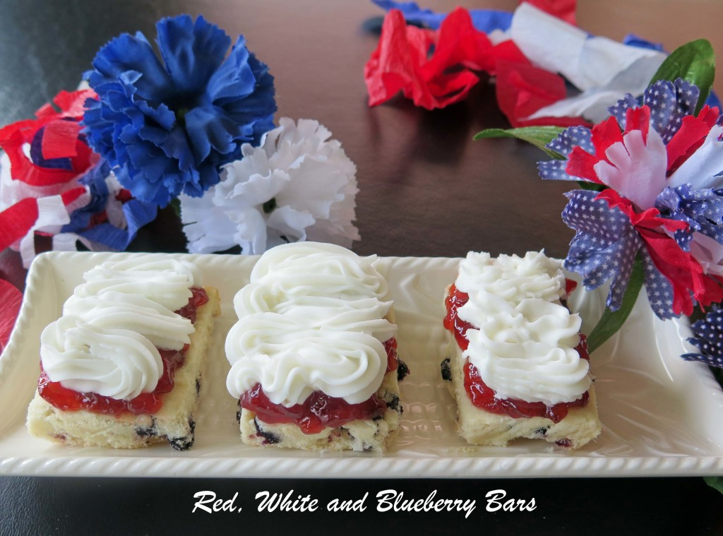 Red, White and Blueberry Bars_