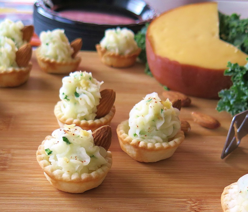 Smoky Potato Pie Cups with almonds