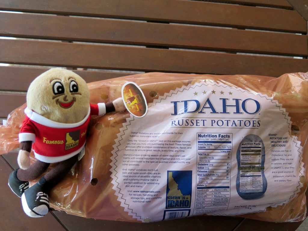 Idaho® potatoes bag and Spuddy Buddy